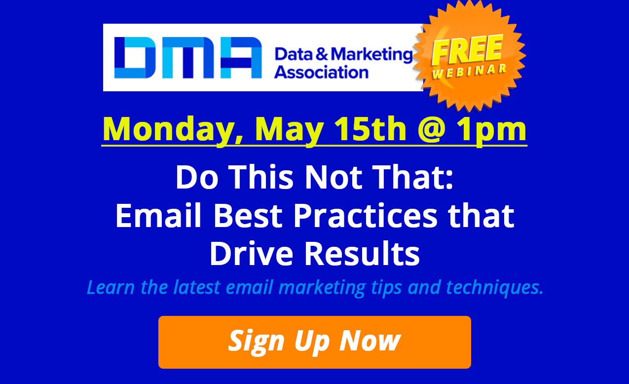 DMA FREE WEBINAR - May 15th at 1pm